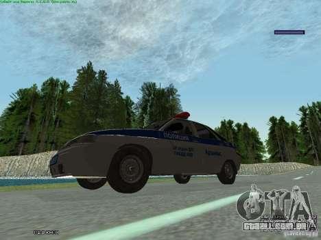 LADA 2112 DPS polícia para GTA San Andreas vista traseira
