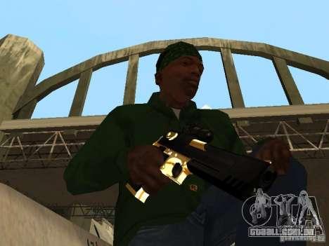 Armas de ouro de Pak para GTA San Andreas por diante tela