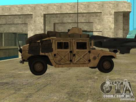 Hummer H1 HMMWV with mounted Cal.50 para GTA San Andreas esquerda vista