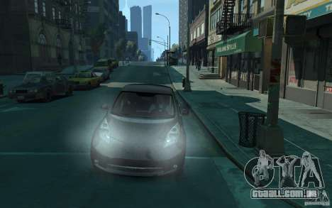 Nissan Leaf 2011 para GTA 4 vista de volta