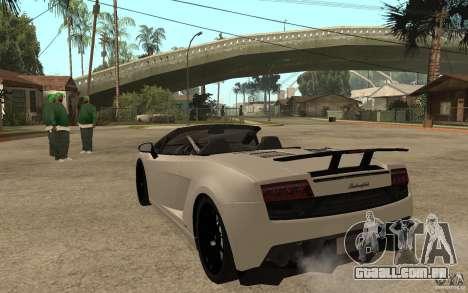 Lamborghini Gallardo LP570-4 para GTA San Andreas traseira esquerda vista