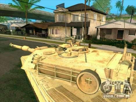 M1A2 Abrams de COD4: MW para GTA San Andreas traseira esquerda vista