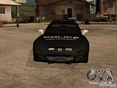 Mazda RX-7 Police para GTA San Andreas