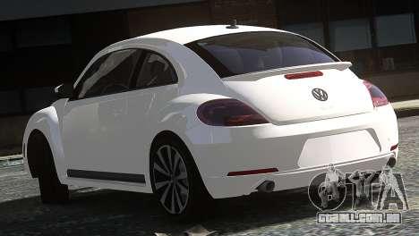 Volkswagen Beetle Turbo 2012 para GTA 4 traseira esquerda vista