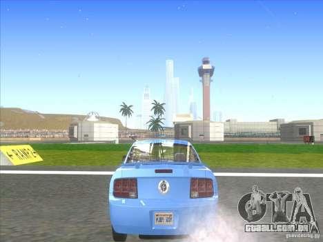 Ford Mustang Pony Edition para GTA San Andreas traseira esquerda vista