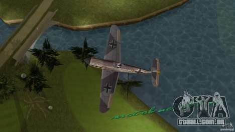 WW2 War Bomber para GTA Vice City vista traseira esquerda