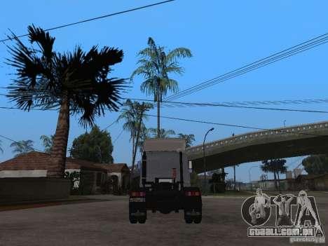 MAZ 543205 Tuning para GTA San Andreas traseira esquerda vista