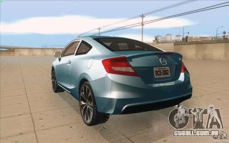 Honda Civic SI 2012 para GTA San Andreas vista direita