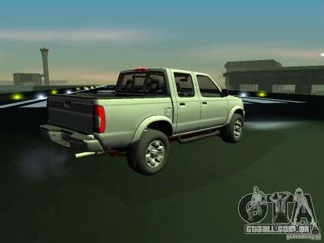 Nissan Frontier para GTA San Andreas traseira esquerda vista