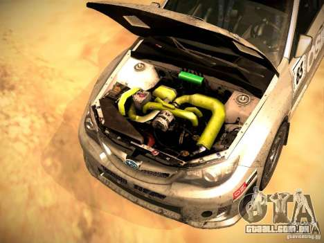 Subaru Impreza Gravel Rally para GTA San Andreas vista inferior