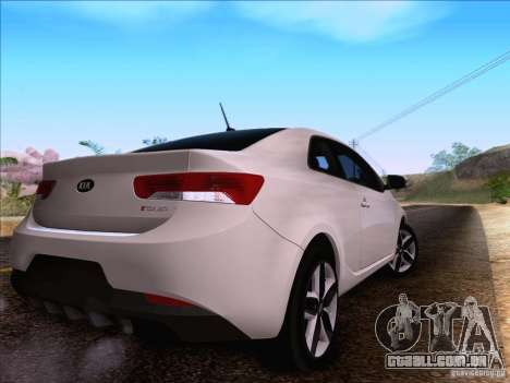 Kia Forte Koup SX para GTA San Andreas vista traseira
