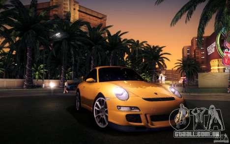 Porsche 911 GT3 (997) 2007 para GTA San Andreas vista inferior
