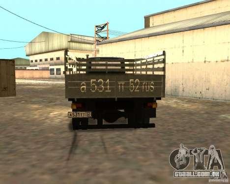GAZ 3309 para GTA San Andreas vista interior