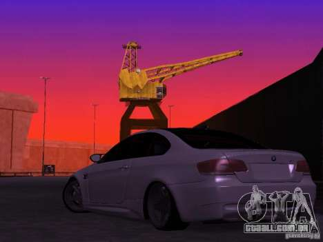 BMW M3 E92 Drift para GTA San Andreas esquerda vista