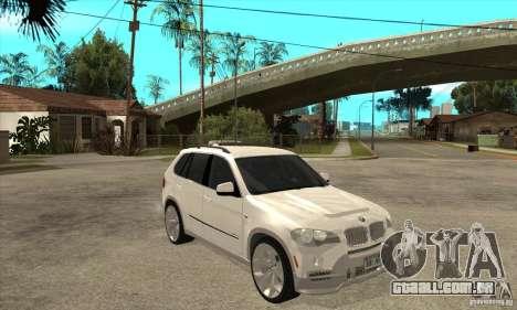 BMW X5 E70 Tuned para GTA San Andreas vista traseira