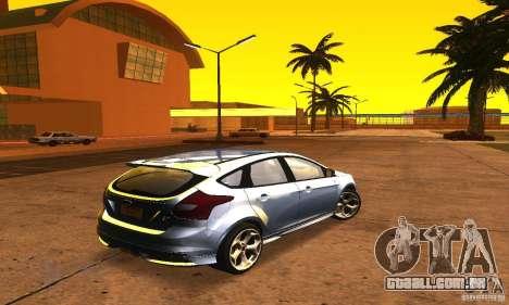 Ford Focus 3 para GTA San Andreas traseira esquerda vista