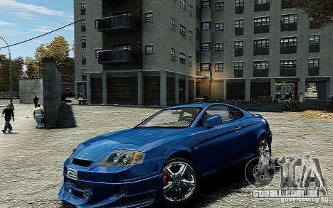 Hyundai Tuscani para GTA 4 vista direita