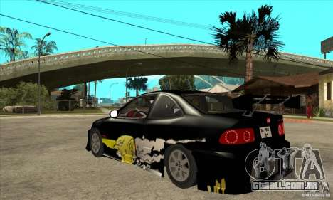 Honda Civic Tuning Tunable para GTA San Andreas vista direita
