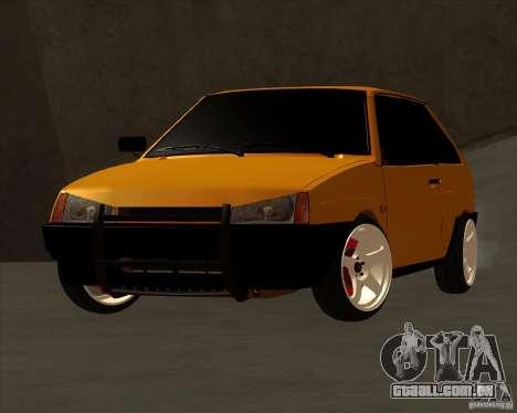 VAZ 2108 (versão com discos brancos) para GTA San Andreas traseira esquerda vista