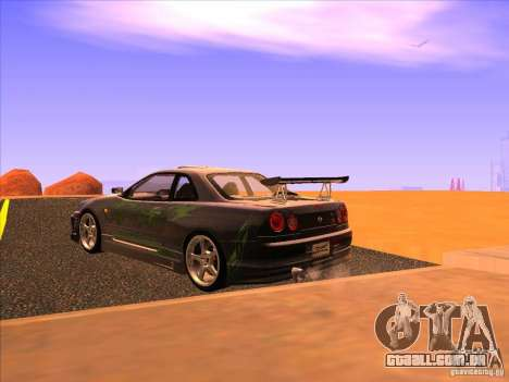 Nissan Skyline R34 Tunable para GTA San Andreas esquerda vista
