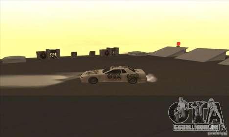 Vinil www.gtavicecity.ru para GTA San Andreas traseira esquerda vista