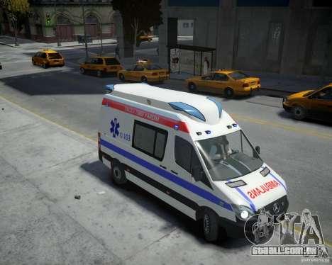 Mercedes-Benz Sprinter Azerbaijan Ambulance v0.2 para GTA 4 vista direita