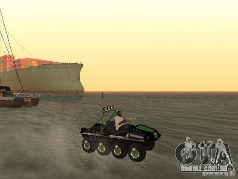 Veículo todo - terreno Argo Avenger para GTA San Andreas vista interior