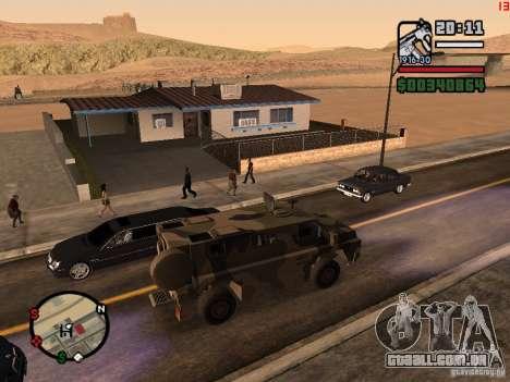Australian Bushmaster para GTA San Andreas esquerda vista
