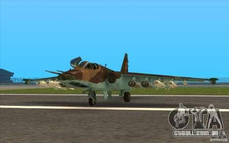 O Su-25 para GTA San Andreas esquerda vista