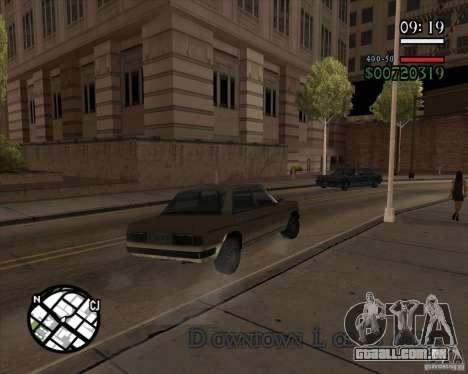 Nova gestão pragmática para GTA San Andreas por diante tela