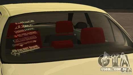 Toyota Corolla Tuned para GTA San Andreas traseira esquerda vista