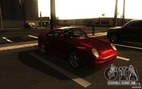 Porsche 959 1987 para GTA San Andreas esquerda vista
