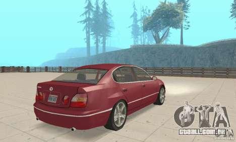 Lexus GS430 1999 para GTA San Andreas esquerda vista