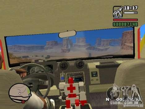 HZS Hummer H2 para GTA San Andreas vista traseira