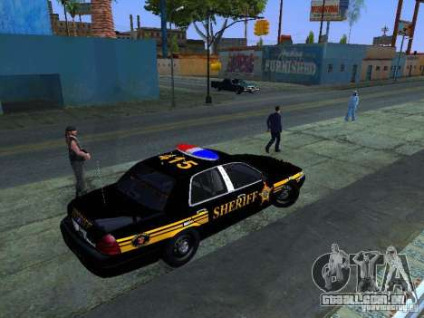 Ford Crown Victoria Erie County Sheriffs Office para GTA San Andreas traseira esquerda vista