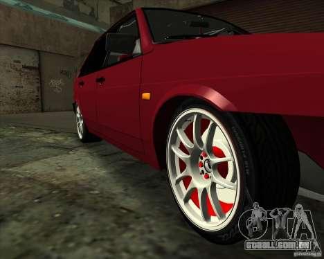 VAZ 2109 Drift para GTA San Andreas vista superior