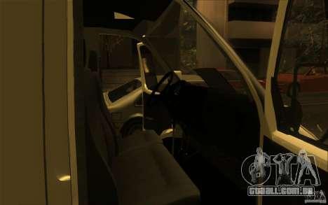 Gazela SPV-16 Rue para GTA San Andreas vista direita