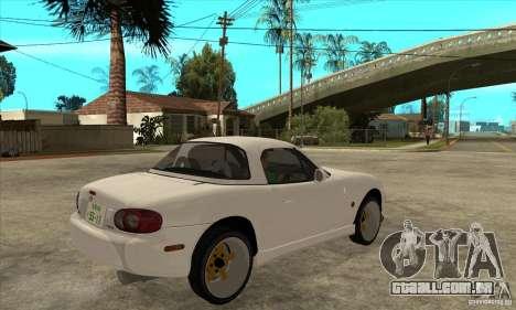 Mazda MX-5 JDM Coupe para GTA San Andreas vista direita
