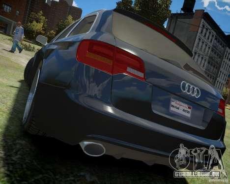 Audi A6 Avant Stanced para GTA 4 traseira esquerda vista