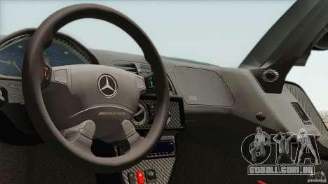 Mercedes-Benz CLK GTR Race Car para GTA San Andreas vista interior