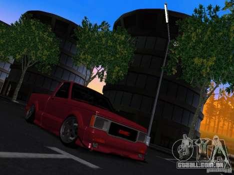 GMC Syclone Drift para GTA San Andreas vista direita