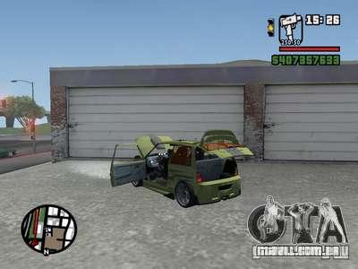 1111 OKA (tuning) para GTA San Andreas traseira esquerda vista