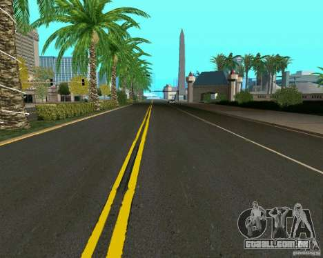 GTA 4 Road Las Venturas para GTA San Andreas por diante tela