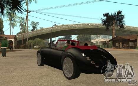 Wiesmann Roadster MF3 para GTA San Andreas traseira esquerda vista