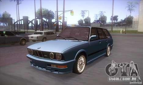BMW E28 Touring para GTA San Andreas esquerda vista