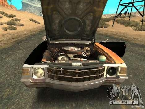 Chevrolet Chevelle Rustelle para GTA San Andreas vista direita