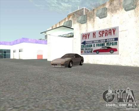 Mazda Savanna RX-7 FC3S para GTA San Andreas traseira esquerda vista
