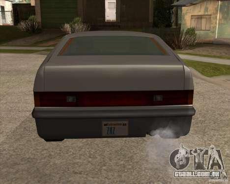 Blistac melhorada para GTA San Andreas traseira esquerda vista