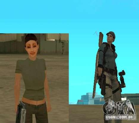Pak personagens de Resident Evil para GTA San Andreas por diante tela