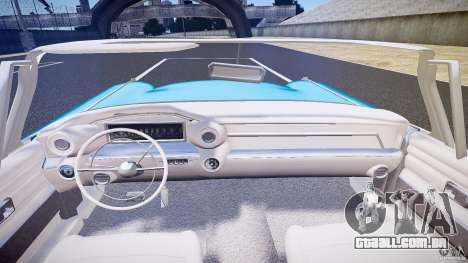 Cadillac Eldorado 1959 interior white para GTA 4 vista inferior
